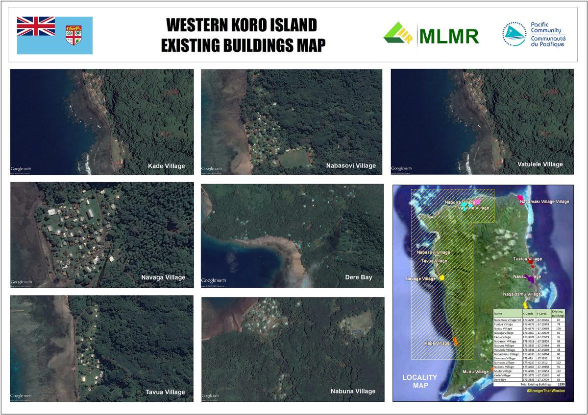 Fiji Western Koro Island Existing Building Map 4 Mar